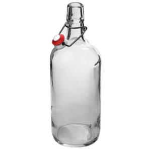 Бутылка с бугельной пробкой 1л прозрачная
